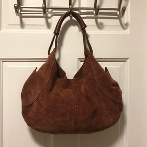 Lucky Brand suede and leather bag